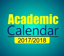 2nd Semester 2017/2018 Academic Calendar